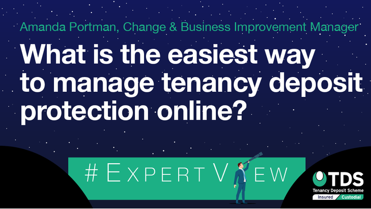 ExpertView blog image - What is the easiest way to manage tenancy deposit protection online?