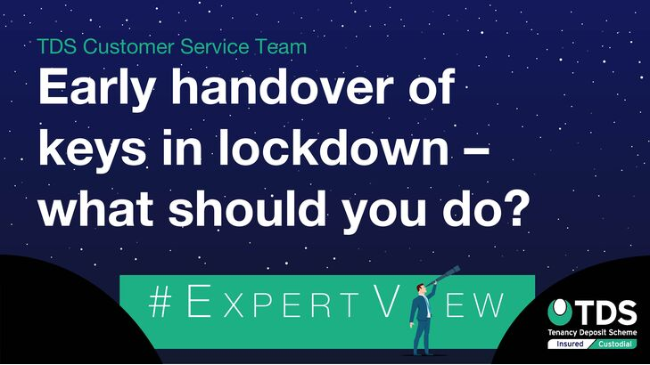 ExpertView blog image - Early handover of keys during lockdown