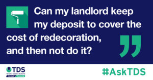 can a landlord claim for redecoration without doing the work