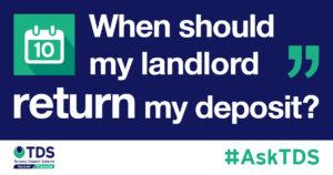 when should landlord return deposit