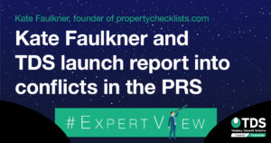 Kate Faulkner and TDS launch report into conflicts in the PRS