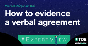 How to evidence a verbal agreement