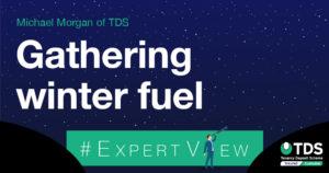 image saying gathering winter fuel