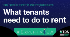 image saying What tenants need to do to rent