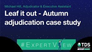 image saying Leaf it out - Autumn adjudication case study
