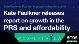 Image saying Kate Faulkner discusses growth in the PRS and affordability