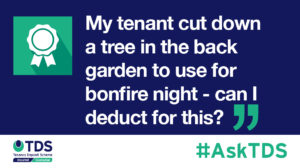 AskTDS blog image - Can I deduct from my tenants deposit?