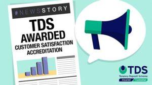 "Image saying ""TDS Awarded Customer Satisfaction Accreditation"""