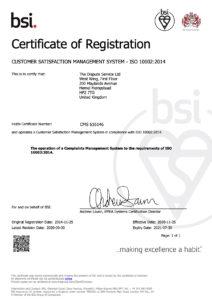 BSI Certificate of Registration