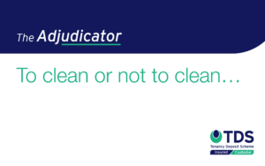 The Adjudicator - To clean or not to clean